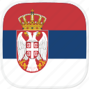 flag, rs, serbia icon