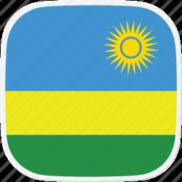 flag, rw, rwanda icon