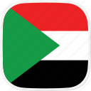 flag, sd, sudan icon