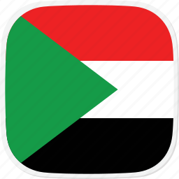 flag, sd, sudan icon