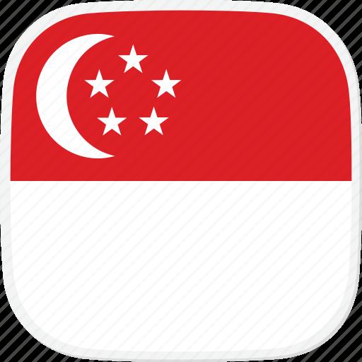 flag, sg, singapore icon