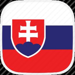 flag, sk, slovakia icon
