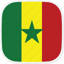 flag, senegal, sn icon