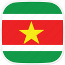 flag, sr, suriname icon