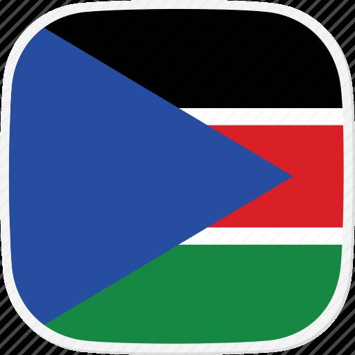 flag, south, ss, sudan icon