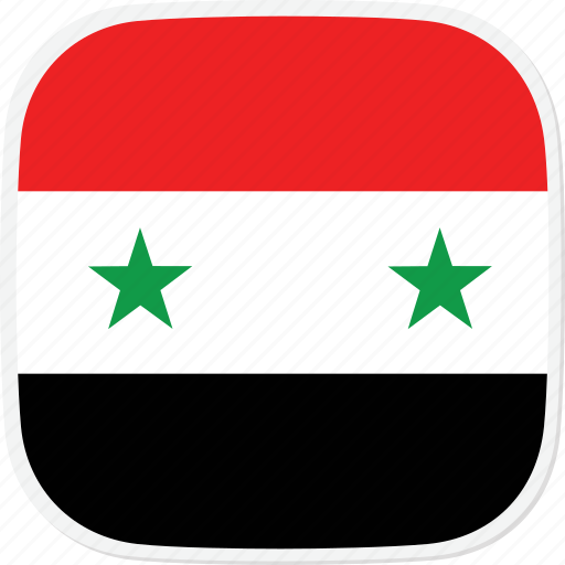 flag, sy, syria icon