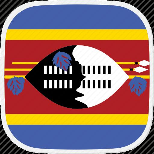 flag, swaziland, sz icon