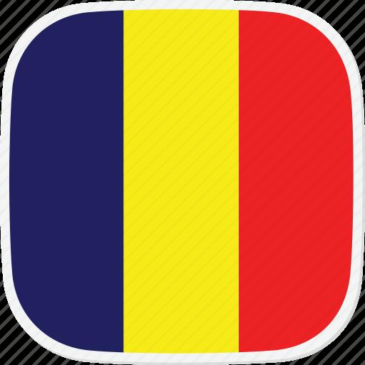 chad, flag, td icon