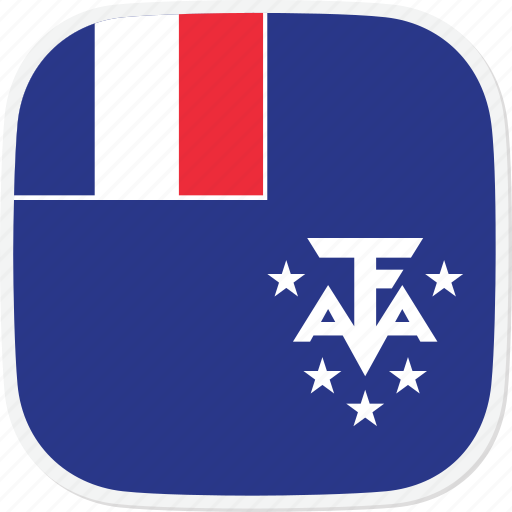 antarctic, flag, french, lands, southern, tf icon