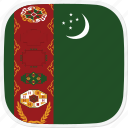 flag, tm, turkmenistan icon