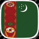 flag, tm, turkmenistan