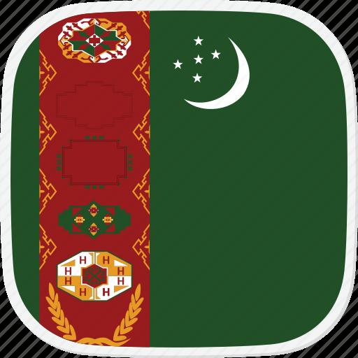 flag, tm, turkmenistan icon