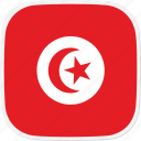 flag, tn, tunisia icon