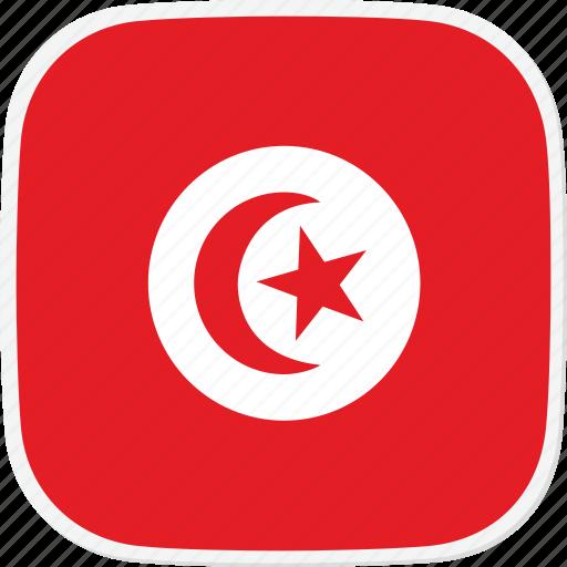 flag, tn, tunisia icon