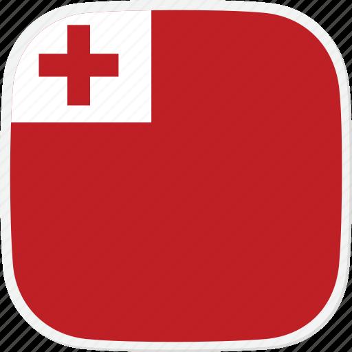 flag, to, tonga icon