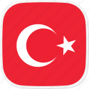 flag, tr, turkey icon