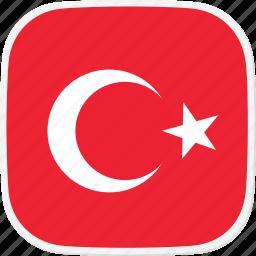 flag, tr, turkey icon