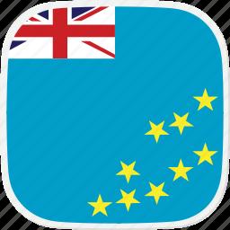 flag, tuvalu, tv icon