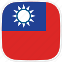 flag, taiwan, tw icon