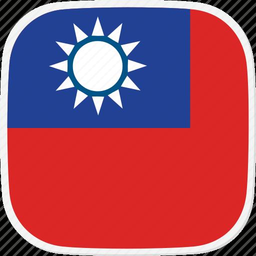 flag, taiwan, tw icon