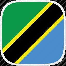 flag, tanzania, tz icon
