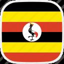 flag, ug, uganda icon