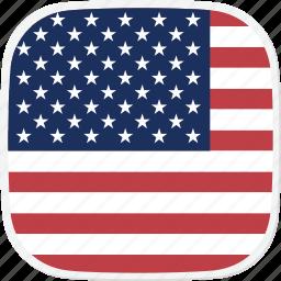 flag, states, united, us icon