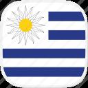 flag, uruguay, uy icon