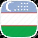 flag, uz, uzbekistan icon