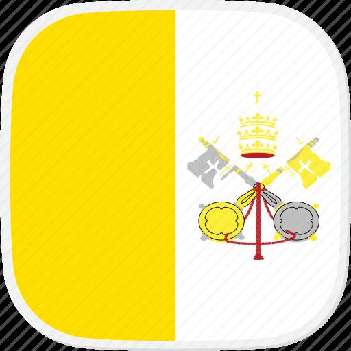 city, flag, holy, see, va, vatican icon
