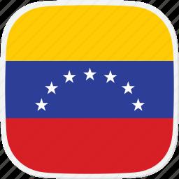 flag, ve, venezuela icon