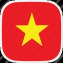 flag, vietnam, vn