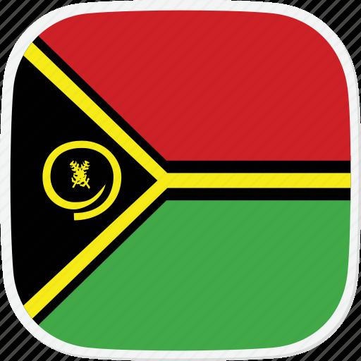 flag, vanuatu, vu icon