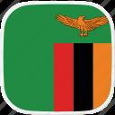 flag, zambia, zm icon