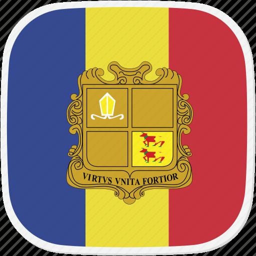 ad, andora, flag icon