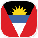 ag, and, antigua, barbuda, flag icon