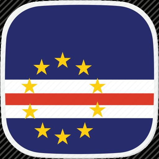 cape, cv, flag, verde icon
