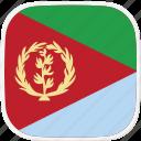 er, eritrea, flag icon