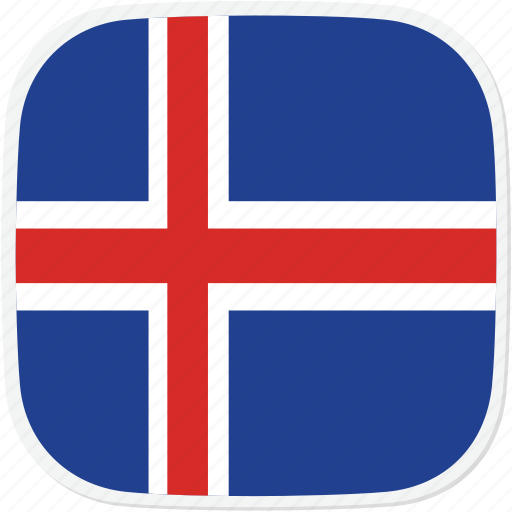flag, iceland, is icon