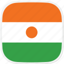 flag, ne, niger icon