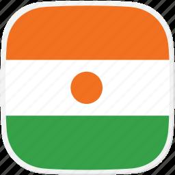 flag, ne, niger icon