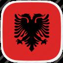 al, albania, flag icon
