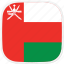 flag, om, oman icon