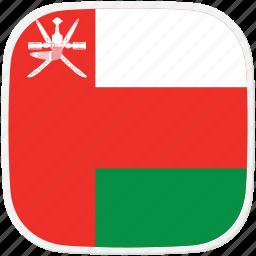flag, om, oman icon
