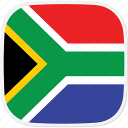 africa, flag, south, za icon