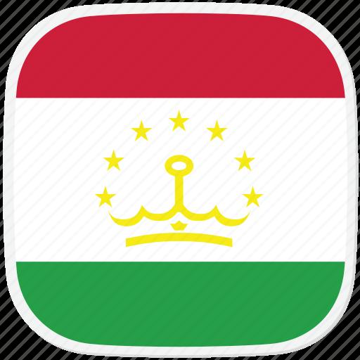 flag, tajikistan, tj icon