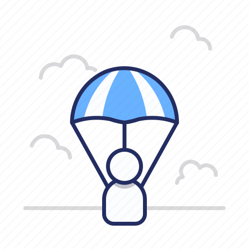 Fly, parachute, sky icon - Download on Iconfinder
