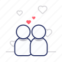 couple, love, together icon