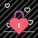 heart, lock, romance