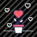 flower, gift, romance icon